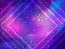 My Galaxy. Vector bright colorful cosmos illustration with sacre. D geometry. Abstract cosmic background with stars. Astronomy, astrology, alchemy, boho and Royalty Free Stock Image