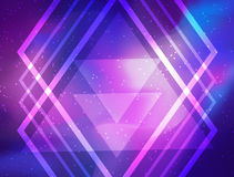 My Galaxy. Vector bright colorful cosmos illustration with sacre. D geometry. Abstract cosmic background with stars. Astronomy, astrology, alchemy, boho and Royalty Free Stock Photo