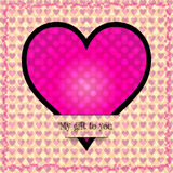 My gift to you. A background of Valentine hearts Royalty Free Stock Photo