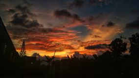 Gloomy Sunset. A sunset captured in Sleman, Special District of Yogyakarta, Indonesia Royalty Free Stock Images