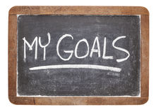 My goals on blackboard Royalty Free Stock Image