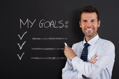 My goals Stock Images