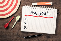 My Goals Concept Stock Photos