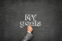 My goals concept Stock Photos