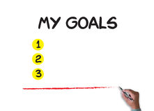 MY GOALS  Handwriting of My Goals Royalty Free Stock Image