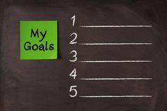 My Goals List Royalty Free Stock Images