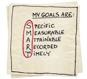 My goals are smart - napkin concept Royalty Free Stock Images