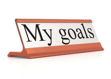 My goals table tag Royalty Free Stock Photos