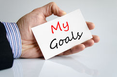 My goals text concept Stock Images