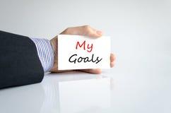 My goals text concept Stock Photo