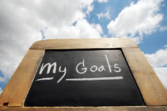 My goals on vintage slate blackboard Royalty Free Stock Image