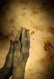 My God!. Praying(special photo f/x,focus on the hands stock photography