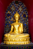 My gold Buddha in temple. Buddha in temple make me calmly royalty free stock image