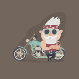 My grandfather forever young biker Stock Images