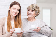 My grandma is also my best friend Royalty Free Stock Image