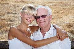 My grandpa and I. Family lifestyle portrait stock images