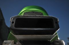 My green sport motorcycle' exhaust Royalty Free Stock Photos
