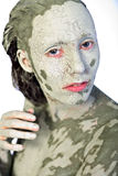 My green ugly face Stock Photo