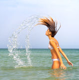 My hair burst from water Stock Photo