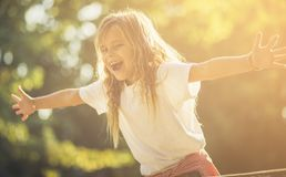 My happiness is so great when I`m in nature royalty free stock photos