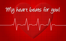 My heart beats for you Stock Image