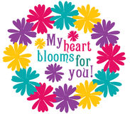 My Heart Blooms Stock Photo