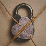 My heart is closed. Symbolic image - my heart is busy loved one Stock Photos