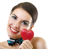 My heart - a gift at date of sacred Valentine Stock Images