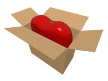 My heart - gift for you! Stock Photos