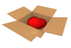 My heart - gift for you! Stock Photography