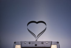 My heart. Heart shaped with cassette tape Royalty Free Stock Images