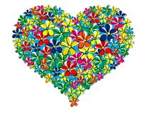 My heart at spring. Heart made by daisys flowers Stock Illustration