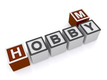 My hobby sign Stock Image