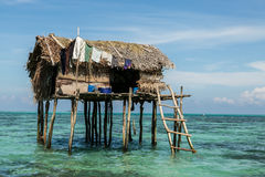 My Home. Common stilt house of Sea Gypsy at Bodgaya Island, Semporna Stock Images