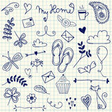 My Home doodles Royalty Free Stock Image