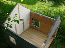 Garden birdhouse stock photography