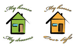 My house. Isolated home sign  My house  , vector illustration Royalty Free Stock Image