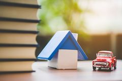 My house and car royalty free stock images