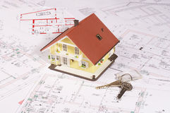 My house and key Royalty Free Stock Photos