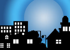 My house in moon light Royalty Free Stock Images