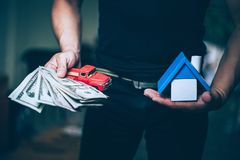 My house and my money stock photography