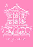 My house. Vector illustration of a pretty girls house Royalty Free Stock Photo