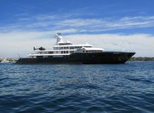 MY ICE. Motor yacht Ice a russia 90 m yacht build by Luerssen in 2002 Stock Photo