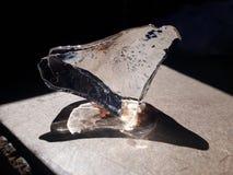 My ice heart melting by its heat royalty free stock photos