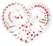Heart Playing Cards Stock Image