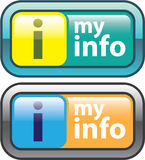 My Info Button Vector Stock Photo