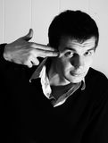 My killer gesture Royalty Free Stock Photography
