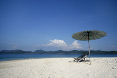 My kind of place. A deserted beach on a small island in Andaman Sea in Thailand Stock Image