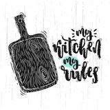 My kitchen my rules royalty free illustration