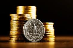 My kwartalnego dolara moneta Obraz Royalty Free
